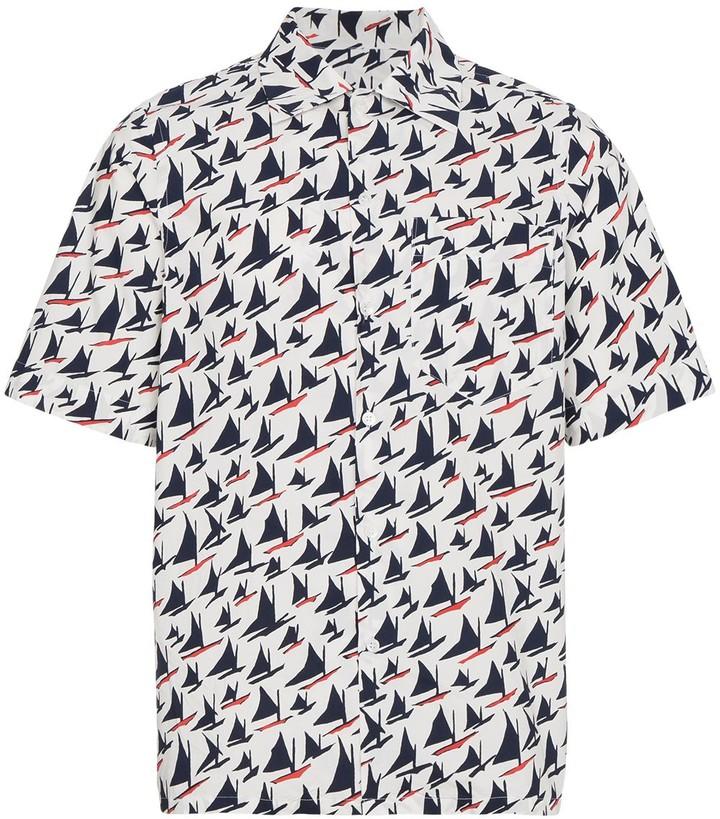 Marni Boat Print Short Sleeve Shirt
