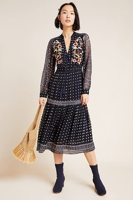 Maeve Cassidy Embroidered Maxi Dress