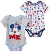 "Disney Disney's Mickey Mouse Baby Boy 2-pk. ""It Wasn't Me"" Graphic & Print Bodysuits"