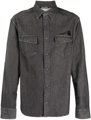 Neil Barrett Patch Pocket Chambray Shirt