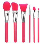 Silicone Makeup Brush Set , Anself Facial Mask Foundation Brushes Cosmetic Eyeshadow Eyebrow Brush Kit With Plastic Handle Pack of 6