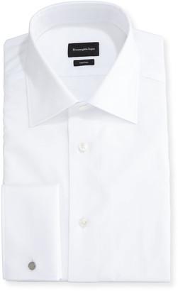 Ermenegildo Zegna TrofeoA Solid Regular-Fit Dress Shirt, White