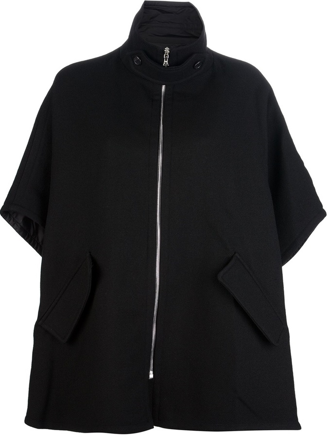 Marni Edition reversible funnel neck cape jacket