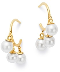 Zoë Chicco 14K Yellow Gold Cultured Freshwater Pearl Hoop Earrings