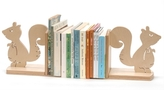 Green Baby Squirrel Book Ends