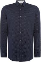 Michael Kors Diamond Pin Dot Slim Fit Shirt