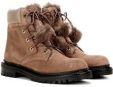 Jimmy Choo Elba Flat Fur-lined Suede Boots