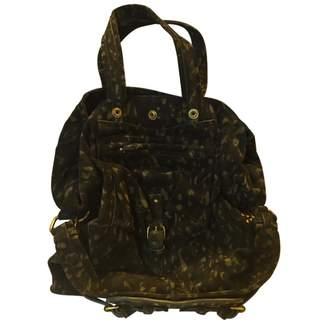 Jerome Dreyfuss Khaki Suede Handbags