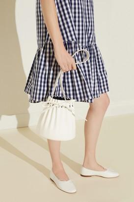 Mansur Gavriel Oversized Gingham Mini Dress - Blu