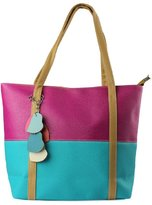 Changeshopping Women Mixed Color Totes Chain Pendants Hobo Shoulder Bags Handbag