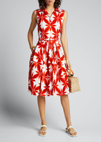 Samantha Sung Claire Origami Flower Sleeveless Shirtdress
