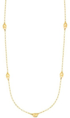 Dinh Van Menottes R8 18K Yellow Gold Handcuff Station Long Necklace