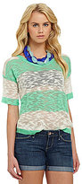 Kensie Cropped Stripe Sweater