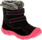 Carter's Child of Mine Infant Girl's Karry Boot Size: 3 US, fabric body and secures with two Velcro straps.