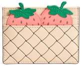 Kate Spade Picnic Strawberry Basket Leather Card Holder