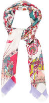 Hermes Faintaisies Indiennes Cashmere Silk Scarf