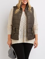 Charlotte Russe Plus Size Quilted Puffer Vest