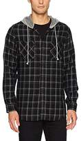 UNIONBAY Men's Classic Button-Up Long Sleeve Flannel Plaid Hoodie