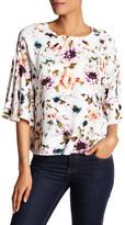 Adrienne Vittadini Floral Bell Sleeve Blouse