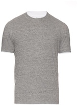 Brunello Cucinelli Cotton-jersey Double-layer T-shirt