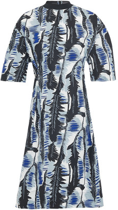 Marni Printed Cotton-blend Poplin Dress