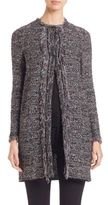 M Missoni Lurex Fringed Long Crochet Coat