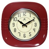Infinity Instruments Classic Diner Decorative Clock - Red