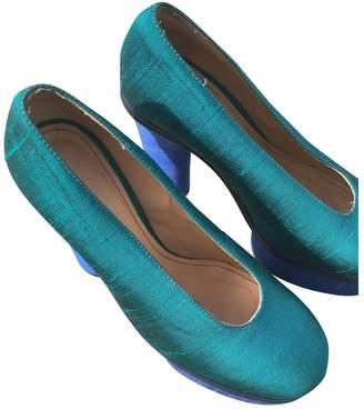Acne Studios Turquoise Cloth Heels