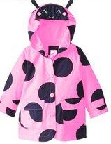 Zhuannian1 Zhuannian Little Girls Boys Ladybug Raincoat Jackets