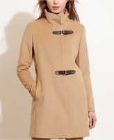 Lauren Ralph Lauren Buckle-Front Coat, Only at Macy's