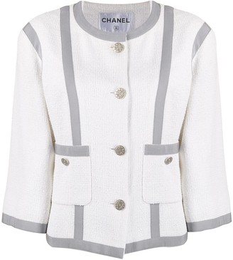 Chanel Pre Owned 2010s Cropped Tweed Jacket