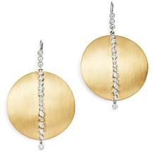 Meira T 14K Yellow & White Gold Diamond Disc Drop Earrings