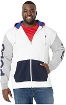 Polo Ralph Lauren Big & Tall Big Tall Long Sleeve Double Knit Tech Package (White Multi) Men's Clothing