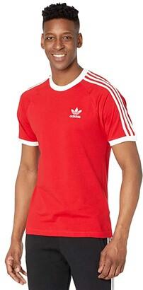 adidas 3-Stripes Tee (White) Men's T Shirt