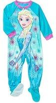Disney Frozen Elsa Girls Toddler One Pc Footed Blanket Sleeper Pajama (t)