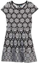 My Michelle mymichelle Knit Printed Dress (Big Girls)