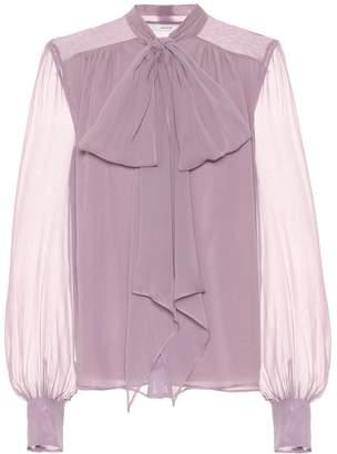 Erdem Lucienne silk georgette blouse