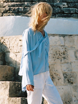 Faithfull The Brand Pierre Top in Plain Light Blue