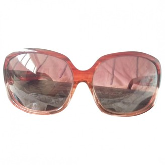 Chrome Hearts Burgundy Plastic Sunglasses