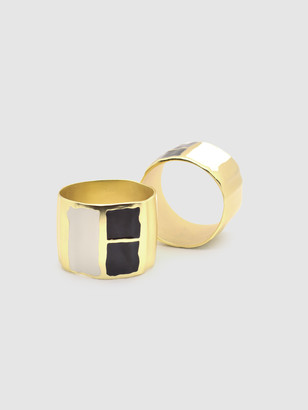Quette Home The Emily Brass Napkin Ring Set