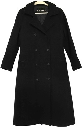 BLK DNM Black Wool Coats