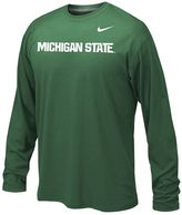 Nike Boys 8-20 Michigan State Spartans Legend Wordmark Dri-FIT Long-Sleeve Tee