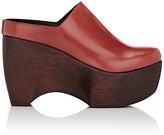 Simon Miller Women's Leather Platform Clogs-RED, BURGUNDY