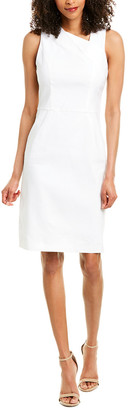Halston Linen-Blend Sheath Dress