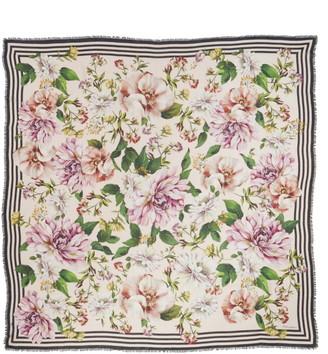 Dolce & Gabbana Floral Print Modal & Cashmere Scarf