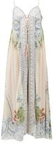 Camilla Beach Shack Lace-up Silk Maxi Dress - Womens - White Print