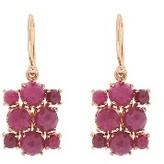 Irene Neuwirth Rose Cut Ruby Cluster Earrings - Rose Gold