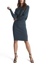Thumbnail for your product : Reiss Lara One Shoulder Long Sleeve Ribbed Sweater Dress