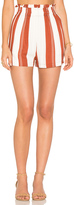 MinkPink Stripe Paper Bag Shorts