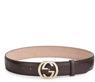 Gucci Interlocking GG Leather Belt